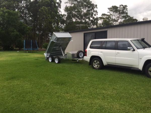 TRAILER PLANS - Nathans Hydraulic Tipping Trailer Build www.trailerplans.com.au