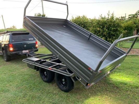 Jordans 3.2m Hydraulic Tipping Trailer Build TRAILER PLANS www.trailerplans.com
